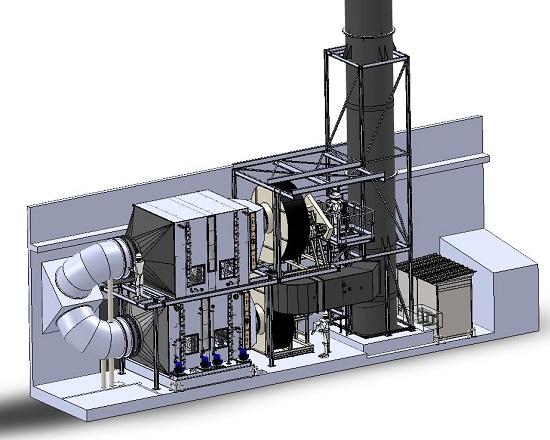 Vue 3D d'un système de ventilation Corelec
